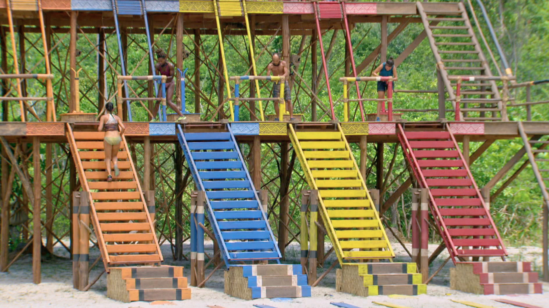 This Individual Immunity Challenge will have the Final 4 racing up a set of steep stairs.