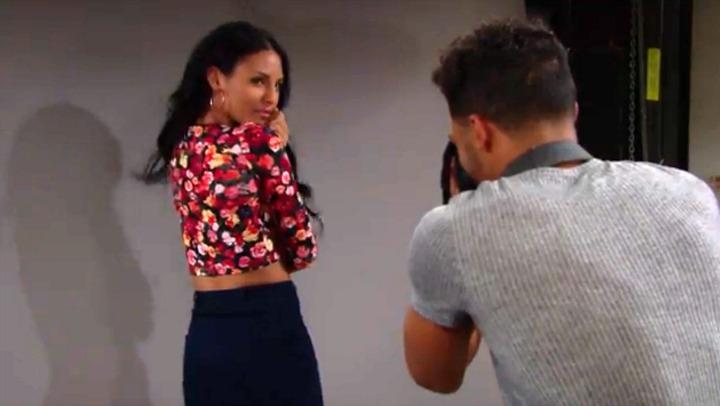 Sparks fly as Sasha models for Zende.
