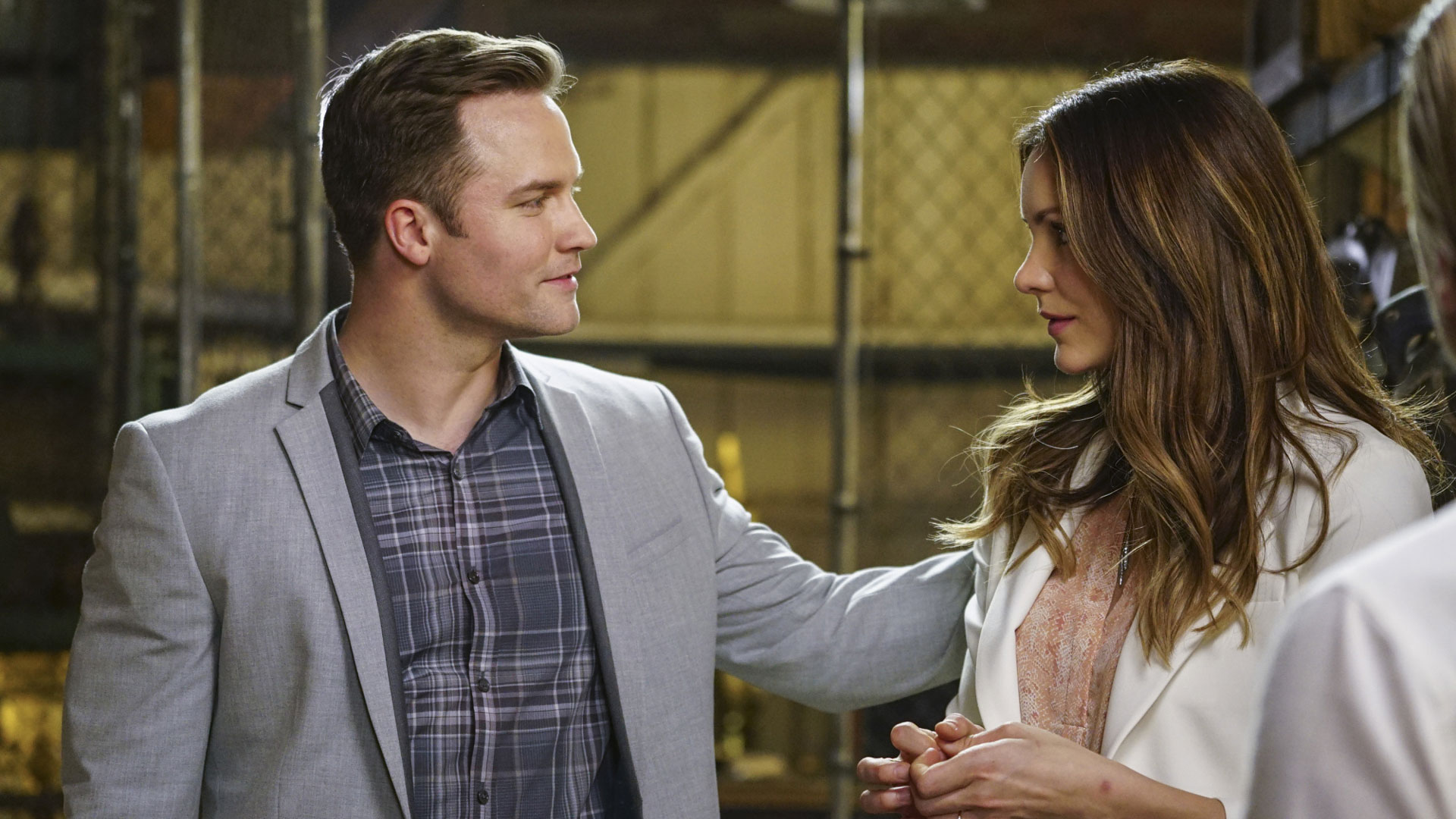 Scott Porter as Tim Armstrong and Katharine McPhee as Paige Dineen