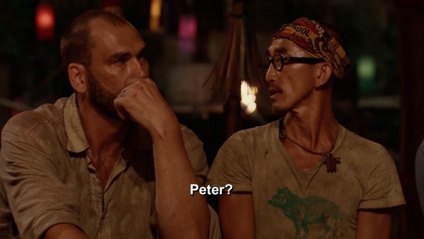 2. Tai and Scot whisper about their original plan.