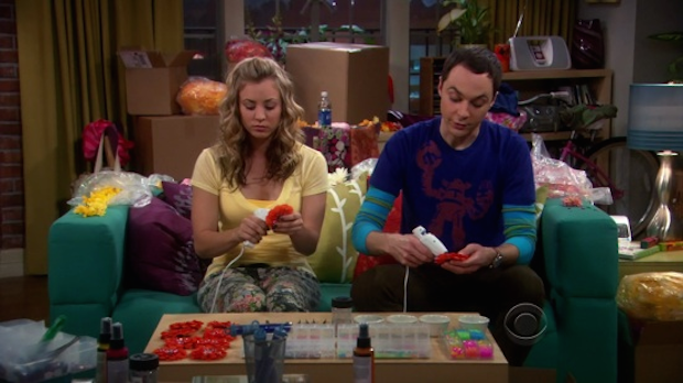 Penny and Sheldon singing