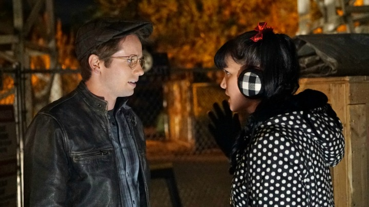 Tyler Ritter as Luca Sciuto and Pauley Perrette as Abby Sciuto