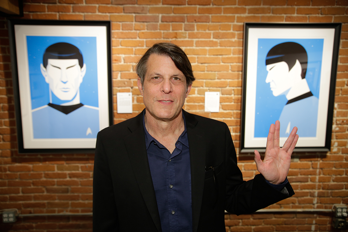 Adam Nimoy with Spock pieces