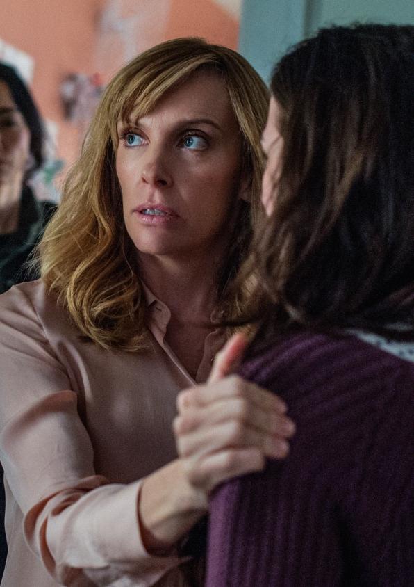 Ellen Sanders holds on to her daugher, Morgan