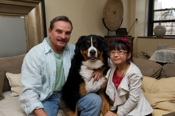 Greg and Allie with their dog, Rosie