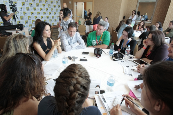 Lucy Liu and Jonny Lee Miller with Press