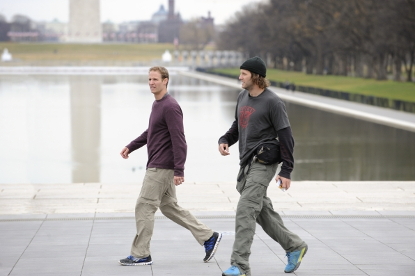 """Steps of the Lincoln Memorial in the season finale of The Amazing Race """"Beacon of Hope"""""""