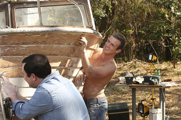3. Who knew cleaning a boat could look so good?