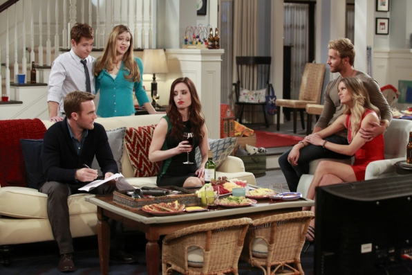 "The gang at Andi & Bobby's house in ""Pilot"""