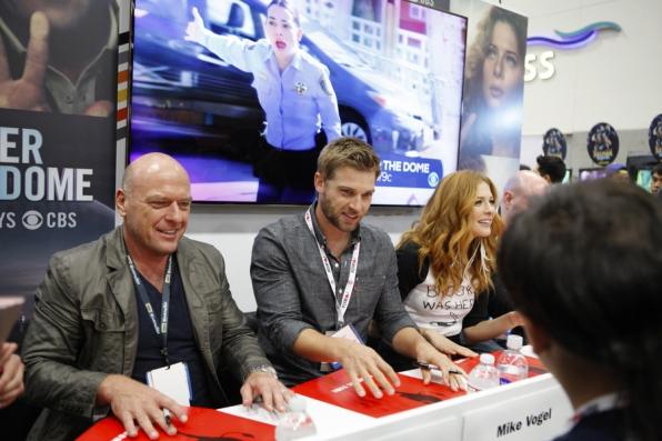 Dean Norris, Mike Vogel and Rachelle Lefevre