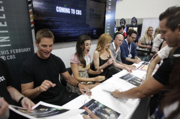 The Cast of Intelligence Autograph Signing
