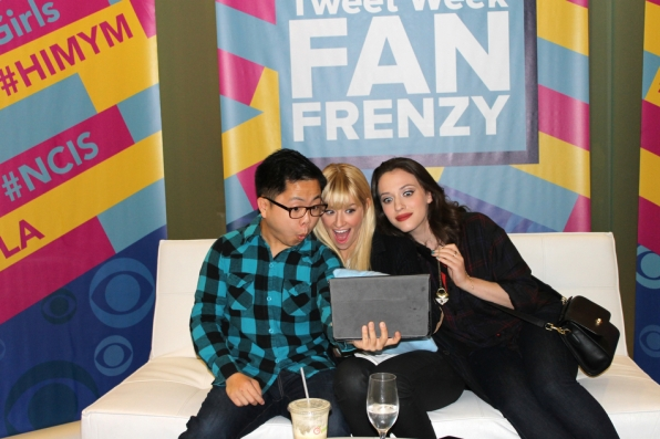 Matthew Moy, Beth Behrs and Kat Dennings