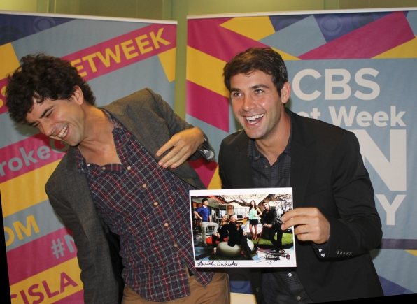 The Crazy Ones' Hamish Linklater and James Wolk