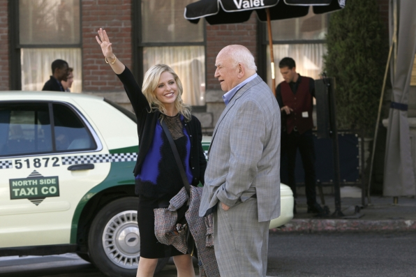 "Hailing a cab in ""The Stan Wood Account"" Episode 8 of Season 1"