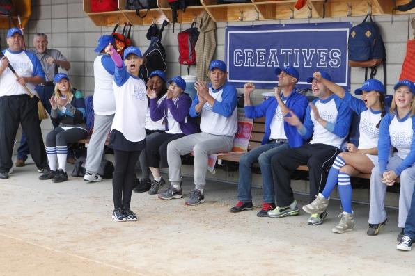 "Team leader in ""Sixteen-Inch Softball"" Episode 9 of Season 1"