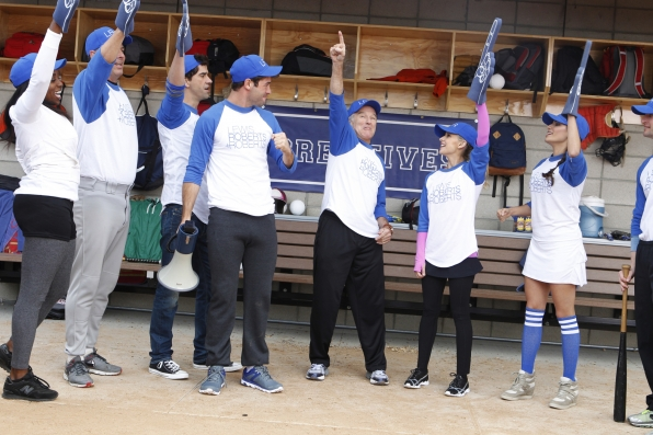 "Go team in ""Sixteen-Inch Softball"" Episode 9 of Season 1"