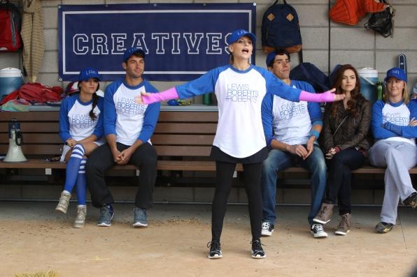 "Hey ump! in ""Sixteen-Inch Softball"" Episode 9 of Season 1"