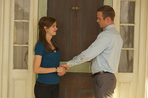 Anna Wood as Jamie Sawyer and Cam Gigandet as Roy Rayder