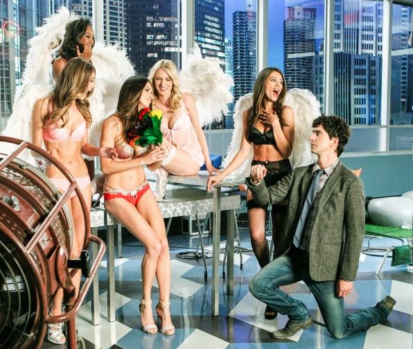 "On bended knee in ""Models Love Magic"" Episode 10 of Season 1"