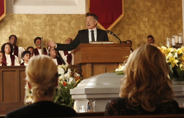 """Giving a eulogy in """"Dead & Improved"""" Episode 15 of Season 1"""