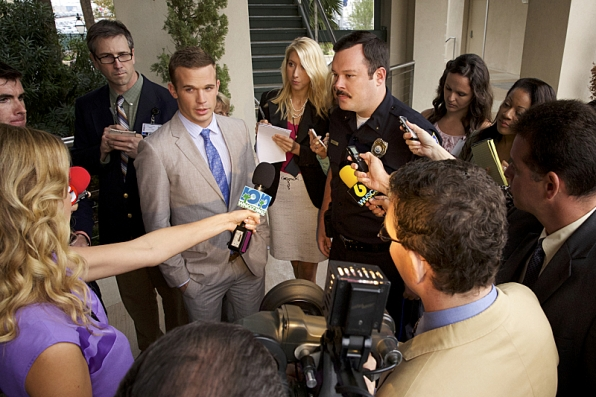 am Gigandet as Roy Rayder and Michael Gladis as Deputy Chief Holland Knox