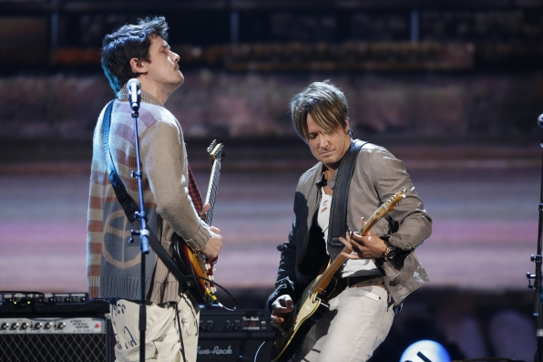 "John Mayer and Keith Urban - ""Don't Let Me Down"" - The Beatles: The Night That Changed America- A GRAMMY® Salute - CBS.com"