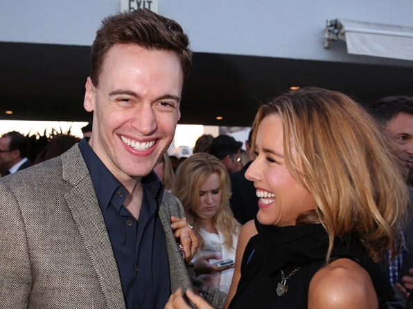 Erich Bergen and Téa Leoni at the CBS Summer Soiree