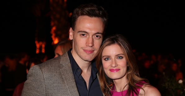 Erich Bergen and Anna Wood at the CBS Summer Soiree