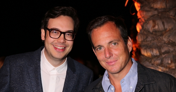 Nelson Franklin and Will Arnett at the CBS Summer Soiree