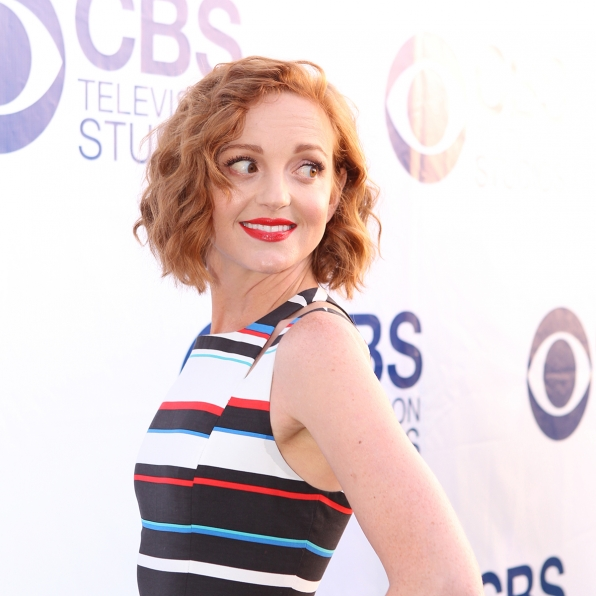 Jayma Mays on the CBS Summer Soiree Red Carpet