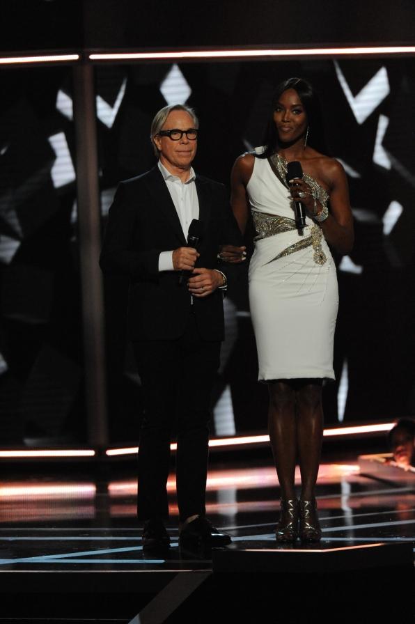 Designer Tommy Hilfiger and model Naomi Campbell