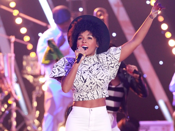7. Janelle Monáe delivered an energetic musical performance