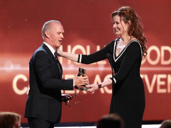 Michael Keaton wins the Career Award