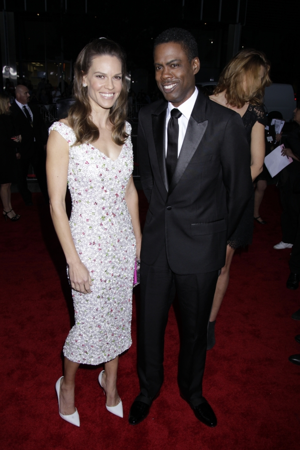 Hilary Swank and Chris Rock on the Red Carpet