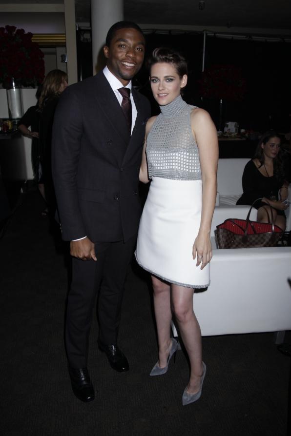 Chadwick Boseman and Kristen Stewart