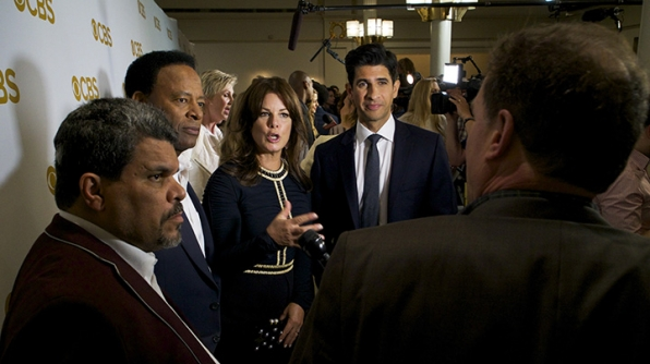 Luis Guzman, William Allen Young, Marcia Gay Harden, and Raza Jaffrey on the red carpet.