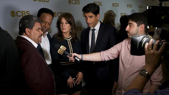 Luis Guzman, William Allen Young, Marcia Gay Harden, and Raza Jaffrey on the red carpet.