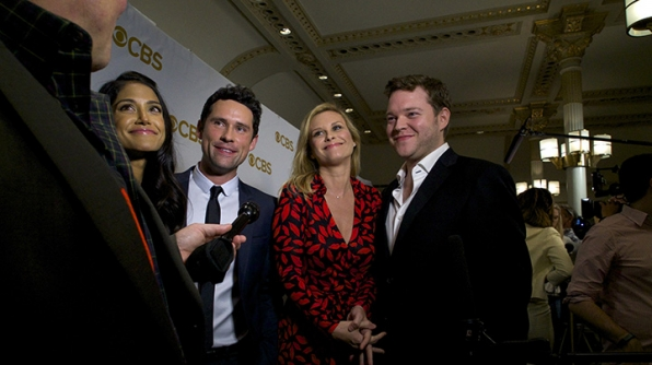 Melanie Kannokada, Ben Hollingsworth, Bonnie Somerville, and Harry M. Ford on the red carpet.