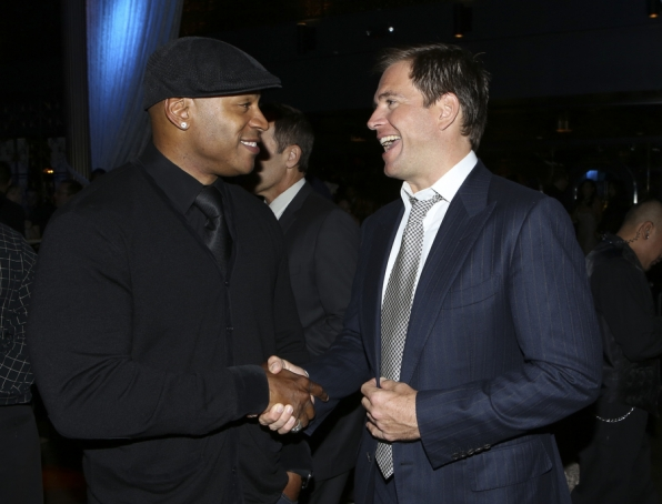 Michael Weatherly and LL Cool J