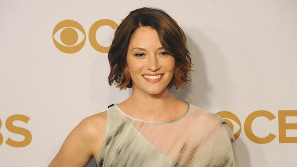Chyler Leigh was front and center in a sheer, one-shoulder dress.