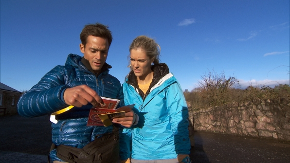 """Max and Katie in the season finale of The Amazing Race """"Beacon of Hope"""""""