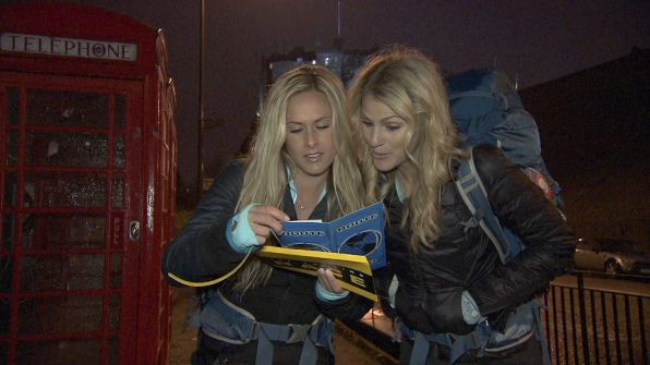 """Caroline and Jennifer in the season finale of The Amazing Race """"Beacon of Hope"""""""