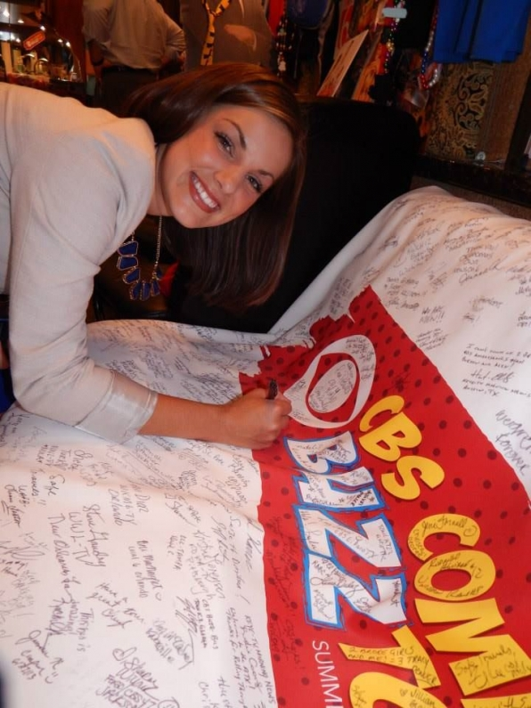 Signing The Banner