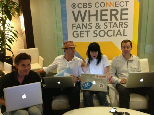 NCIS Stars in the Connect Lounge