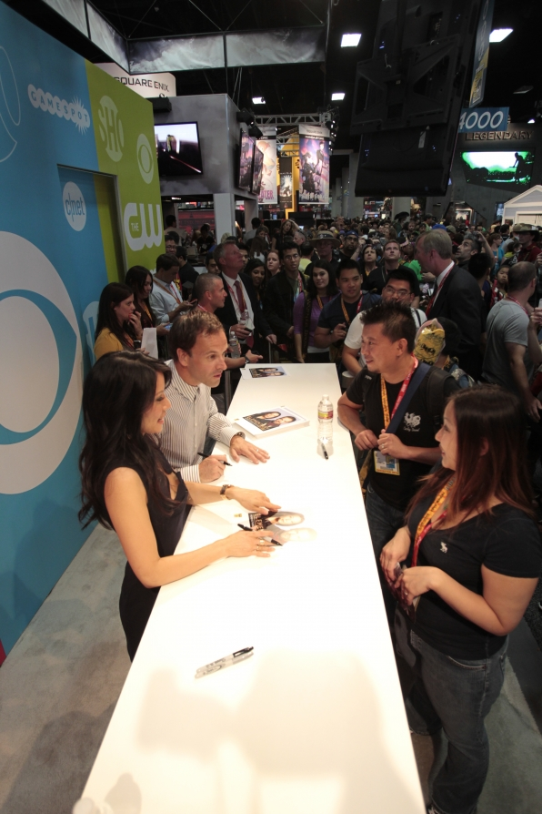 Bird's Eye View of the CBS Booth