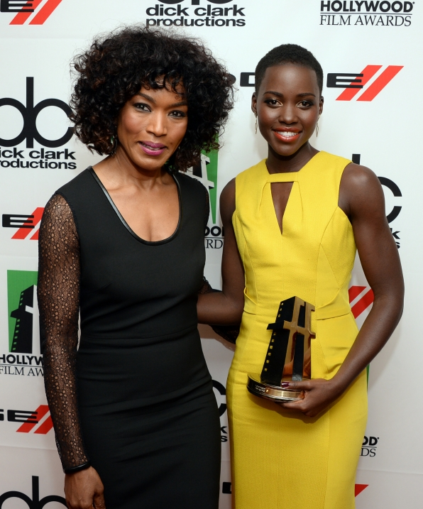3. Angela Bassett with winner, Lupita Nyong'o