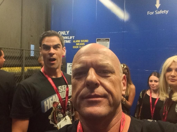 7. Dean Norris Feeling Like a Rock Star Backstage at Comic-Con
