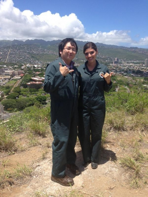 4. Hawaii Five-0 - Masi Oka and Amanda Setton