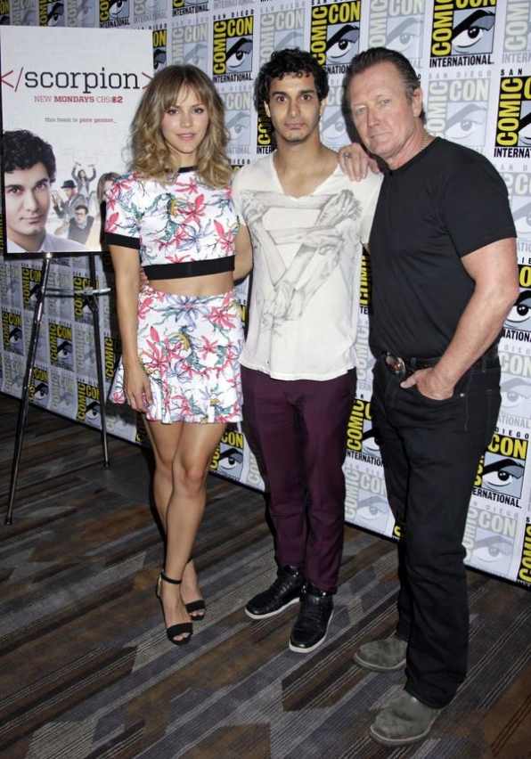 13. The Cast of Scorpion Strikes a Pose for the Press
