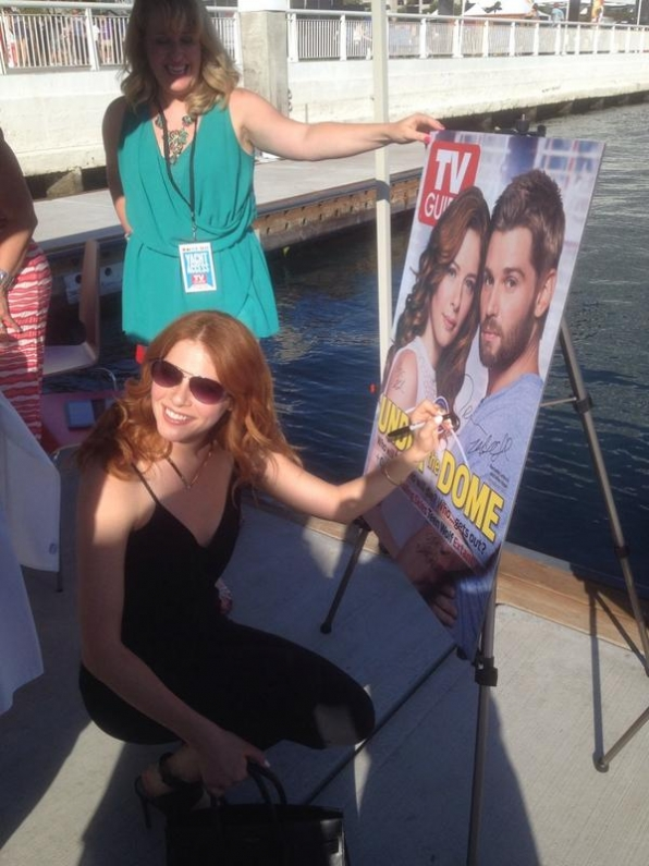 15. Rachelle Lefevre Gets Up Close and Personal With TV Guide